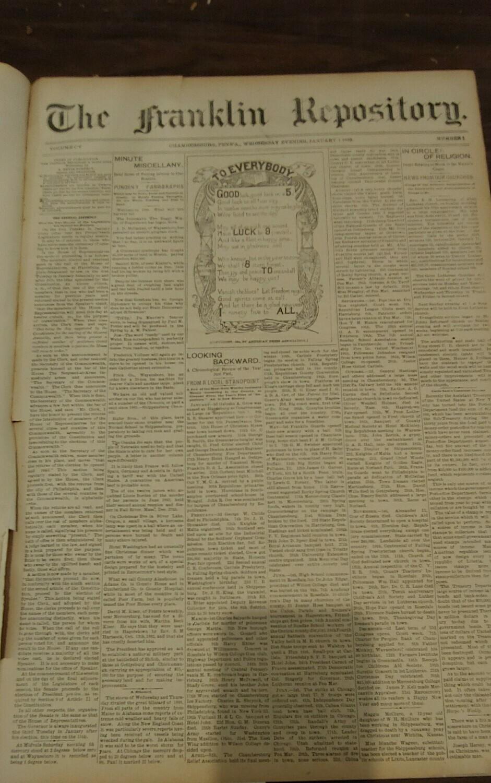 Franklin Repository 1895