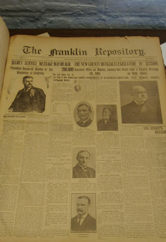 Franklin Repository 1909