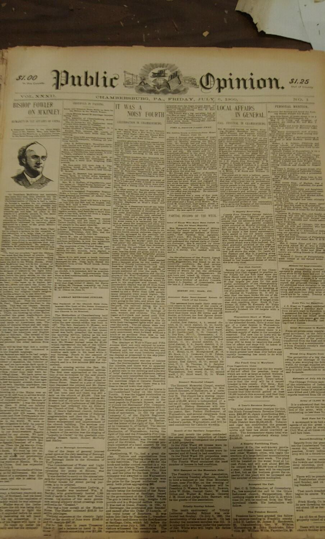 Public Opinion 1900-1901