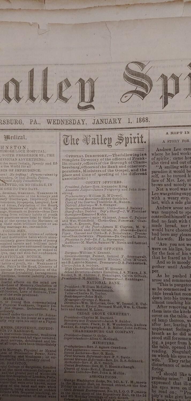 Valley Spirit 1868