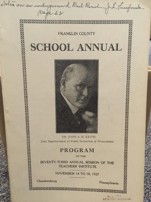 Franklin County School Annual 1927