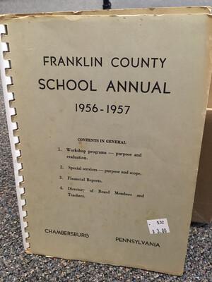 Franklin County School Annual 1956-1957