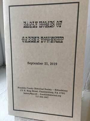 Early Homes of Greene Township