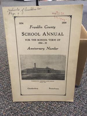 Franklin County School Annual 1934-35