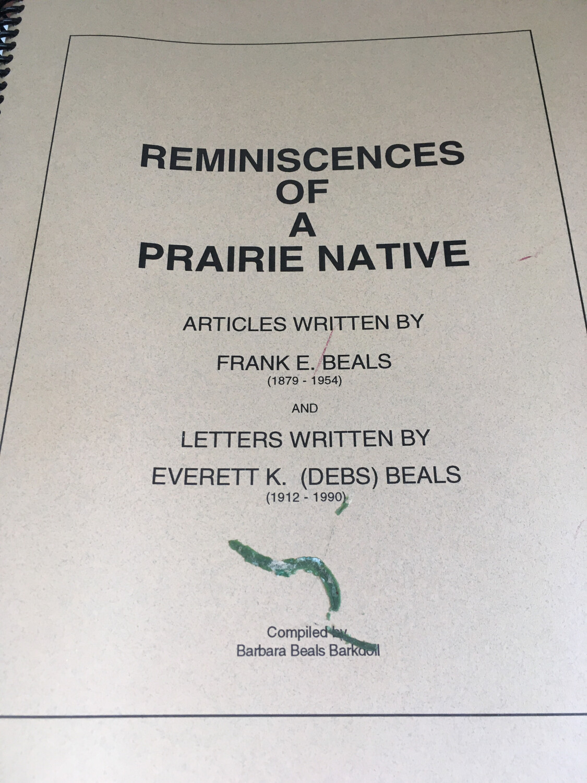 Reminiscences of a Prairie Native