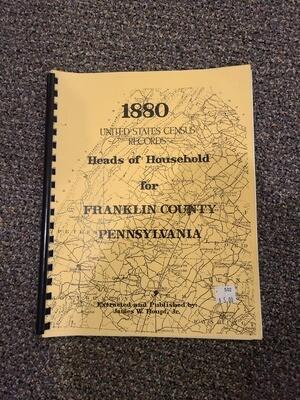 1880 Census of Franklin County CV Volunteer Fireman