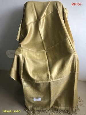 Gold shade tissue linen Saree
