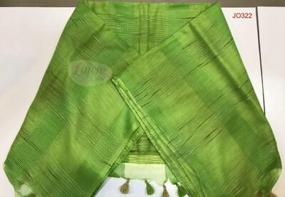 Green shade Jute Organza Saree