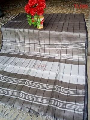 Grey shade tissue linen saree