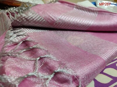 Pink shade tissue linen Saree