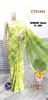 Cotton Slub Shibori print Saree