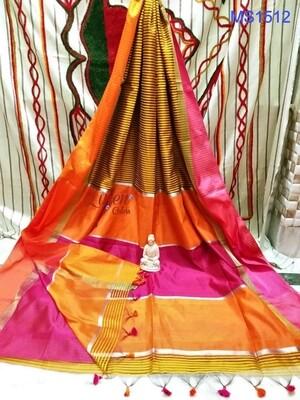 Maheshwari Silk Saree with stripes