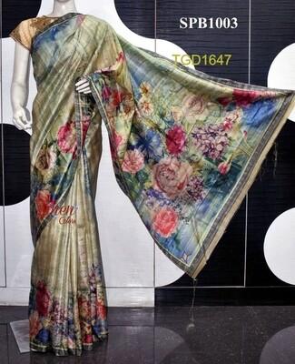 Pink shade usser Munga Golden Silk Zari border saree