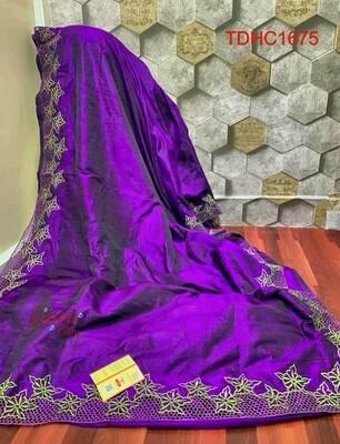 Elegant Tusser by Tusser saree with hand cut work design