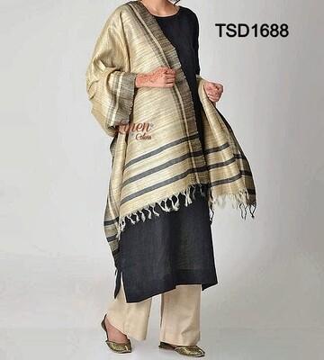 Elegant Tusser Silk beautiful dupatta