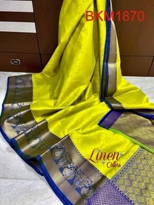 Banarasi Kora Muslin Tanchuy saree