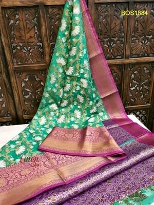 Banarasi Organza Silk Weaved Saree