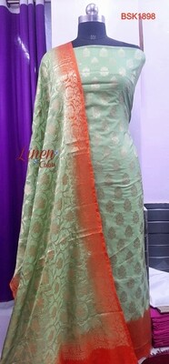 Banarasi Semi Katan Silk full suit material