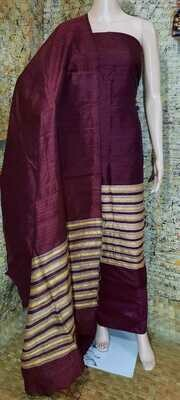 Elegant Tusser by Dupion Raw Silk full suit material.