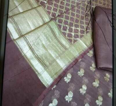 Banarasi Chanderi Silk full suit material