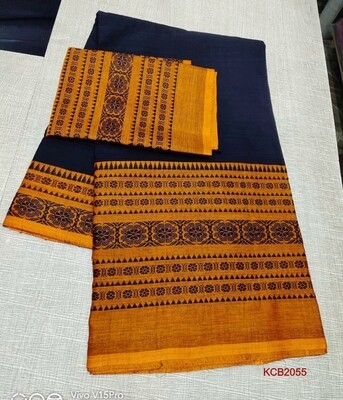 Begompuri ​Cotton Khadi Saree with jacquard weaving
