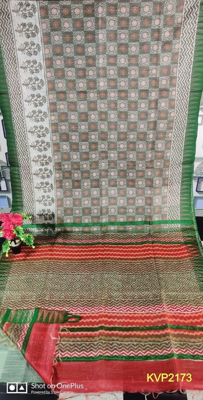 Kota by viscose temple border saree  exclusive printed design.