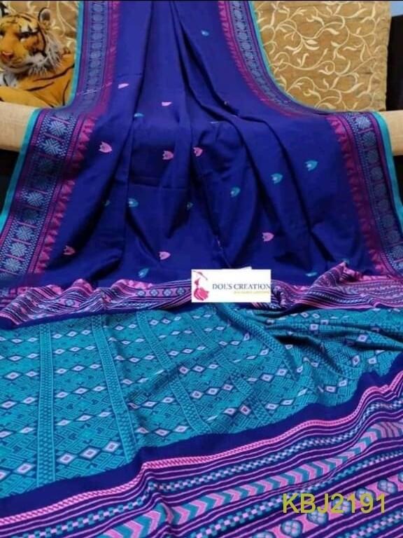 Khadi base hand woven all over work jamdani saree