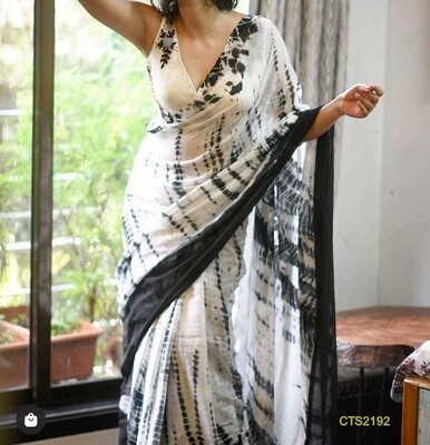 Cotton Slub Shibori print Saree