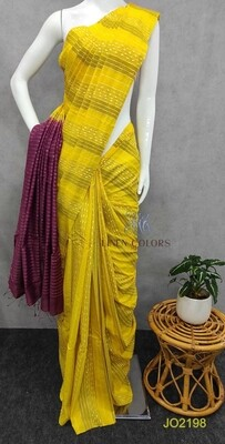 Beautiful Jute Organza Saree