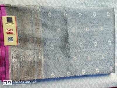 Authentic Katan Pevar Banarasee Saree with Kaduva design, interlocked weaving
