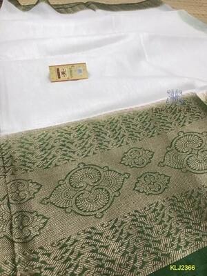 Elegant Banarasi Kota by linen saree with jacquard weaving
