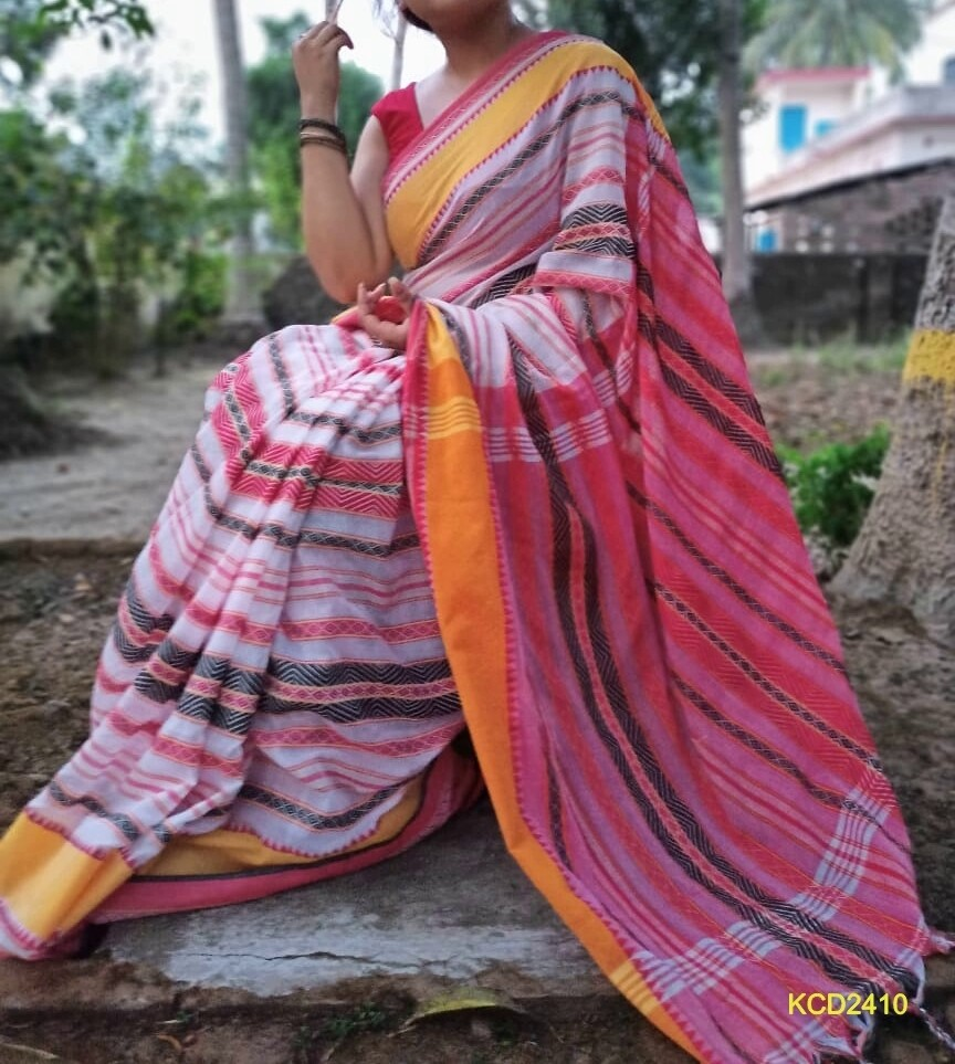 Dhaniakhali traditional Jamdani Saree with jacquard weaving