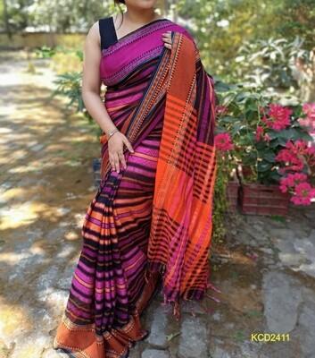 Dhaniakhali traditional Jamdani Saree with jacquard weaving
