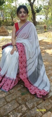 Handloom Saree with double jacquard weaving
