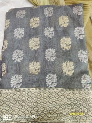 Authentic Banarasee Munga Silk Dupatta with all over weaving