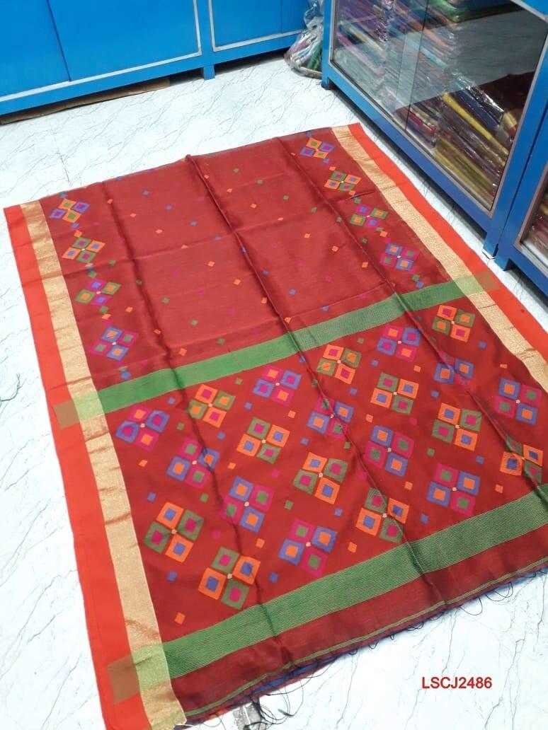 Chatai Jamdani saree with hand woven design