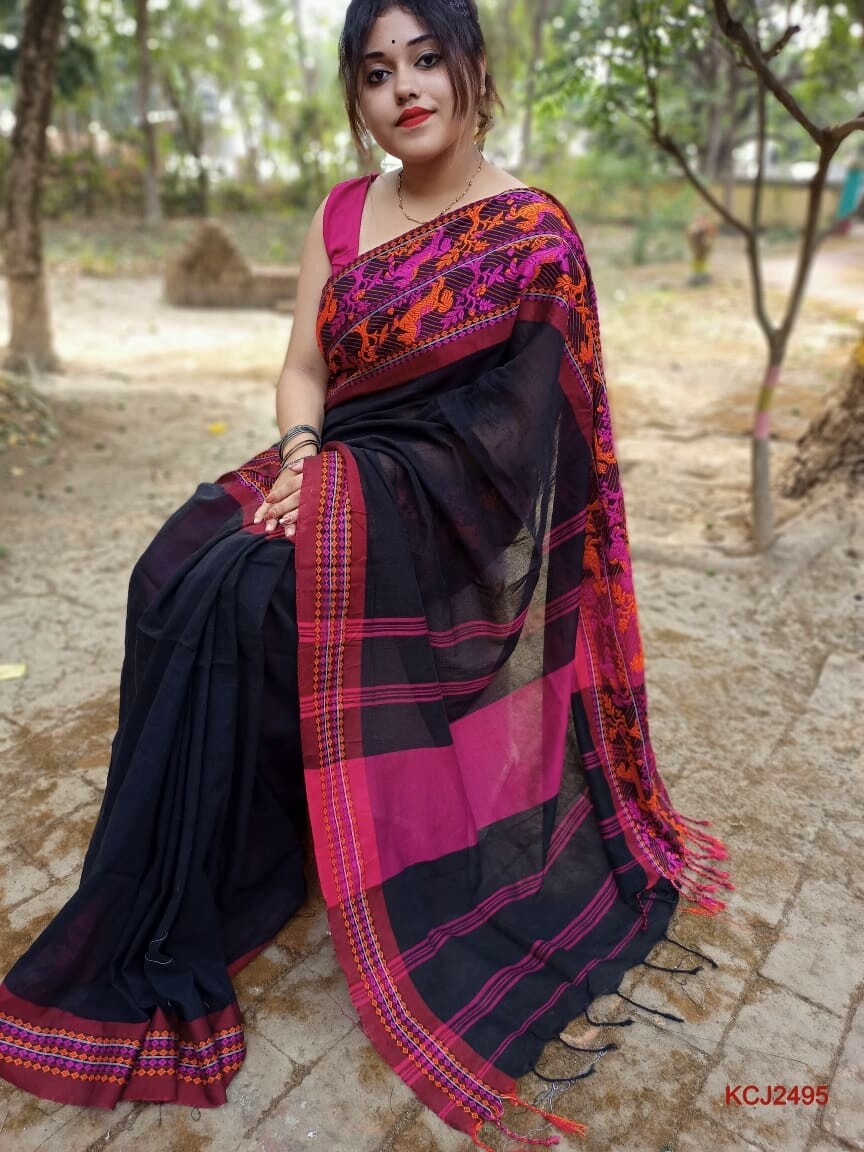 Handloom Saree with double jacquard weaving