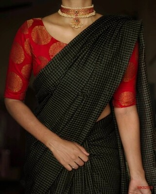 Semi Katan by Steple sarees with beautiful new dobby weaving design