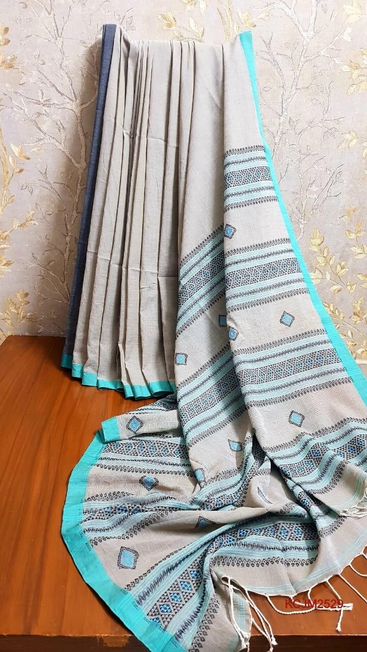 Handloom Cotton Khadi with jamdani work