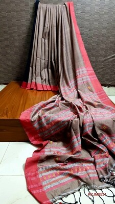 Handloom Cotton Khadi with jamdani work