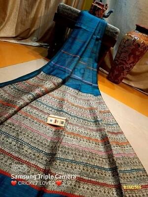 Baluchari Silk Mutka Traditional  Saree