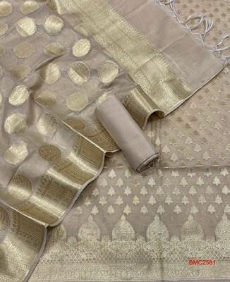 Banarasee Merserised Cotton Resham full Suit