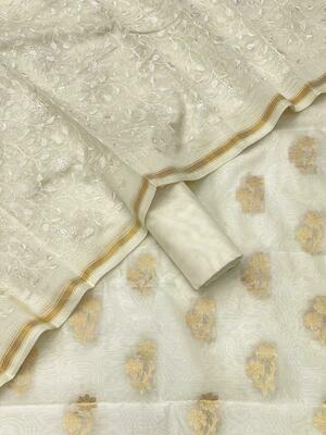 Banarasee Merserised  Chanderi Silk suit