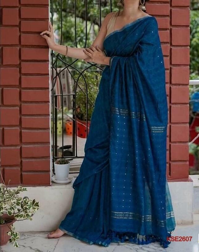 Kota Steple saree with new embroidery design