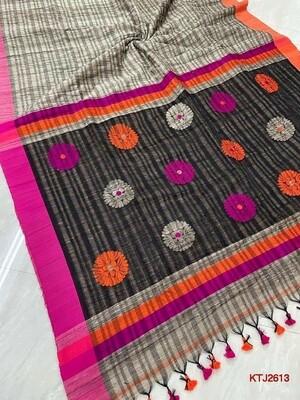 Unique, Mutka Ghicha Exclusive Soft Saree