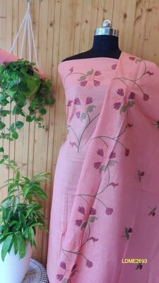 Beautiful Linen top and dupatta with beautiful embroidery work