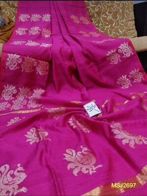 Mutka Silk Jamdani saree with all over hand woven zori work