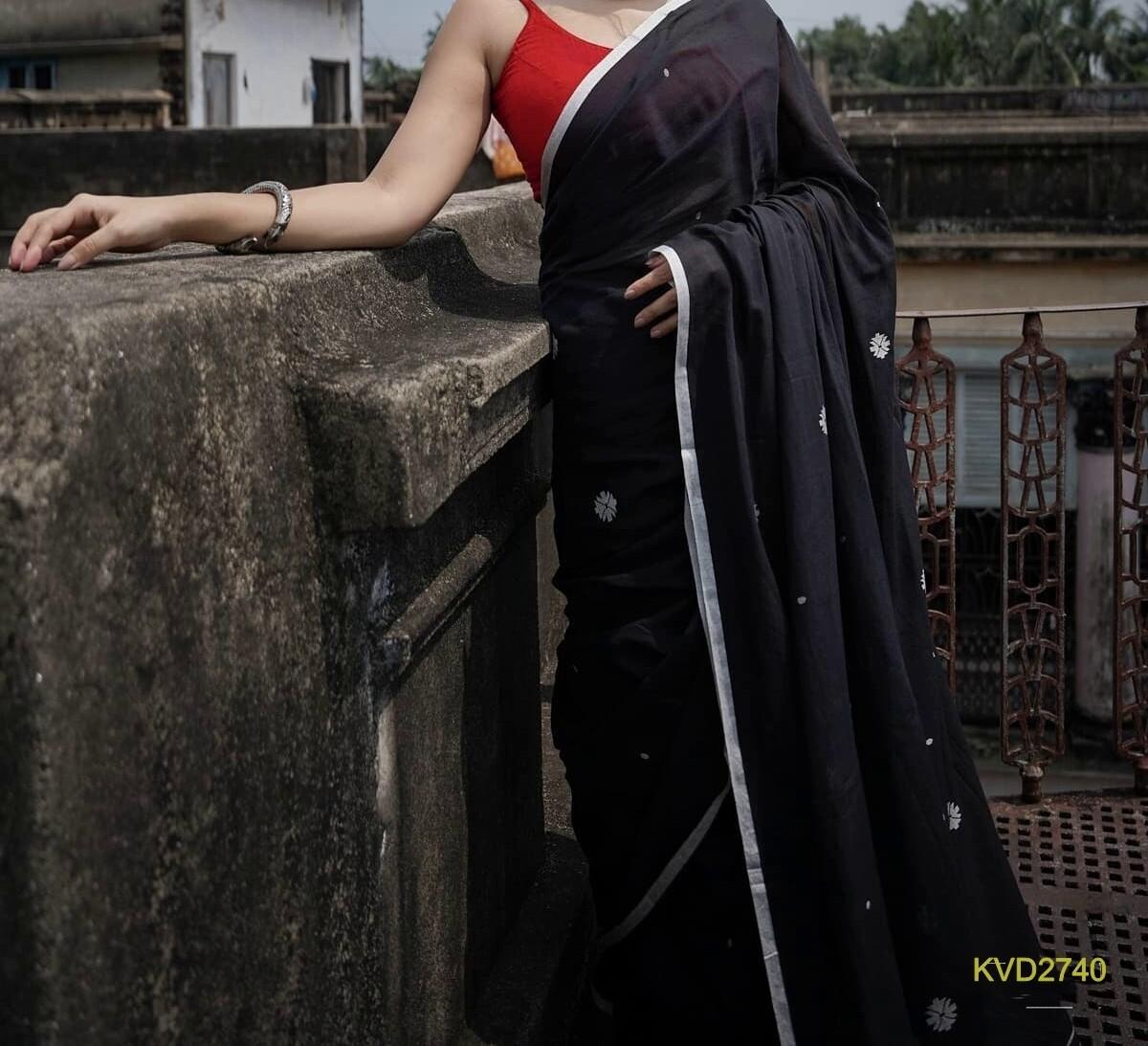 Kota Viscose Zari border saree with dobby weaving