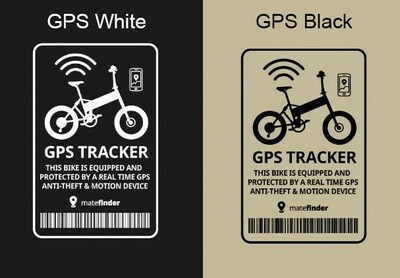 Transparent black or white GPS Tracker sticker