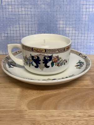 Soy Wax Teacup Candle - Vintage Gardenia